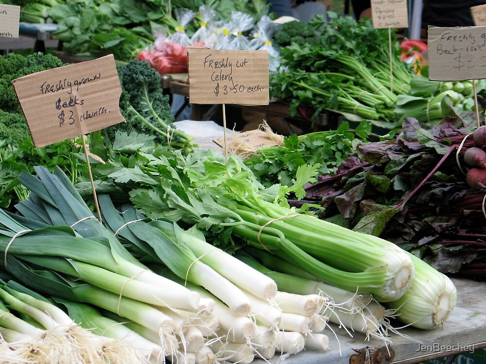 Veges at the market by JenBeechey