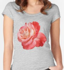 Ombré Red Rose II - Hipster/Pretty/Trendy Flowers Women's Fitted Scoop T-Shirt