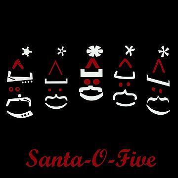 Santa o five Five Santas by KabaTheBear