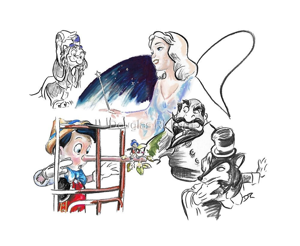 Story Lines - Pinocchio Characters by Douglas Rickard