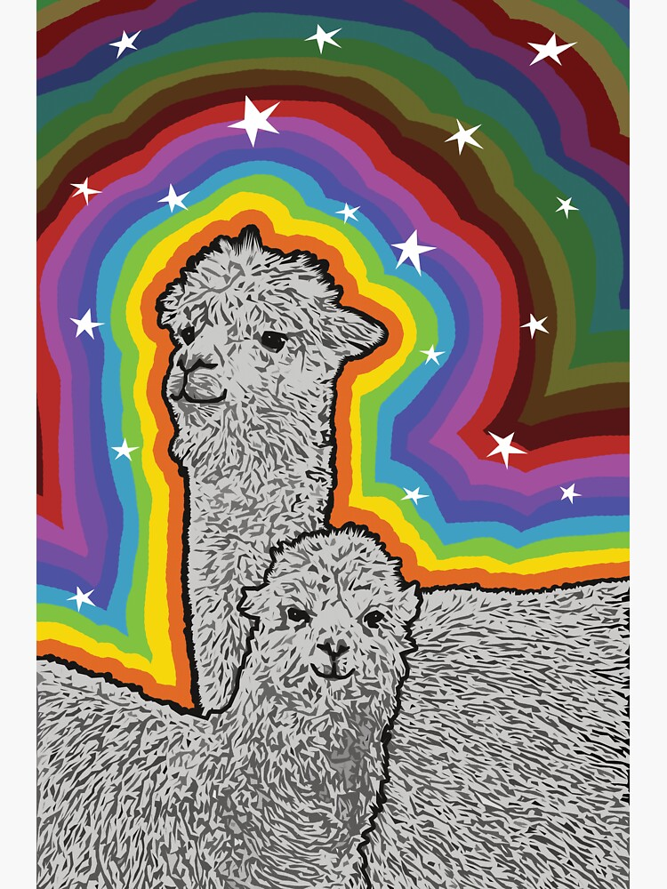 Colourful Alpacas and stars by hidden-design