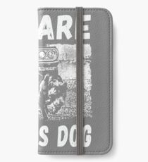 Beware Of This Dog iPhone Flip-Case/Hülle/Skin