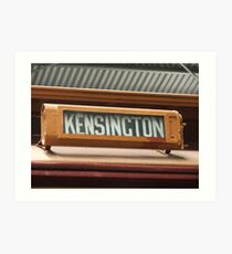 Kensington Art Print