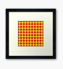 funkelndes Raster in Rot und Gelb Gerahmtes Wandbild