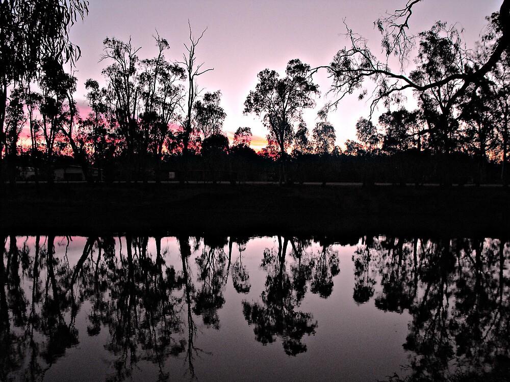 Dusk on the Murray by Kay Coates