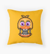Adventure Withered Chica - FNAF World - Pixel Art Throw Pillow