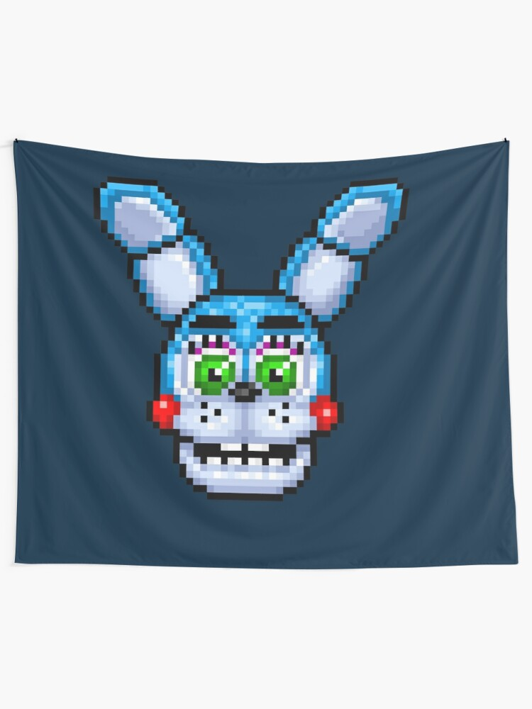 Adventure Toy Bonnie Fnaf World Pixel Art Wall Tapestry