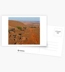 Looking down to the Murray  Plains from the Mt Lofty Ranges South Australia Postcards