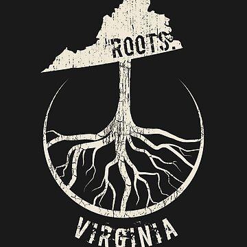 Vintage Virginia Roots State - Proud Homeland - Born And Raised In Virginia by RaveRebel