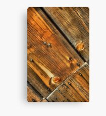 Wood Grain Pattern on Weathered Wooden Boards Canvas Print