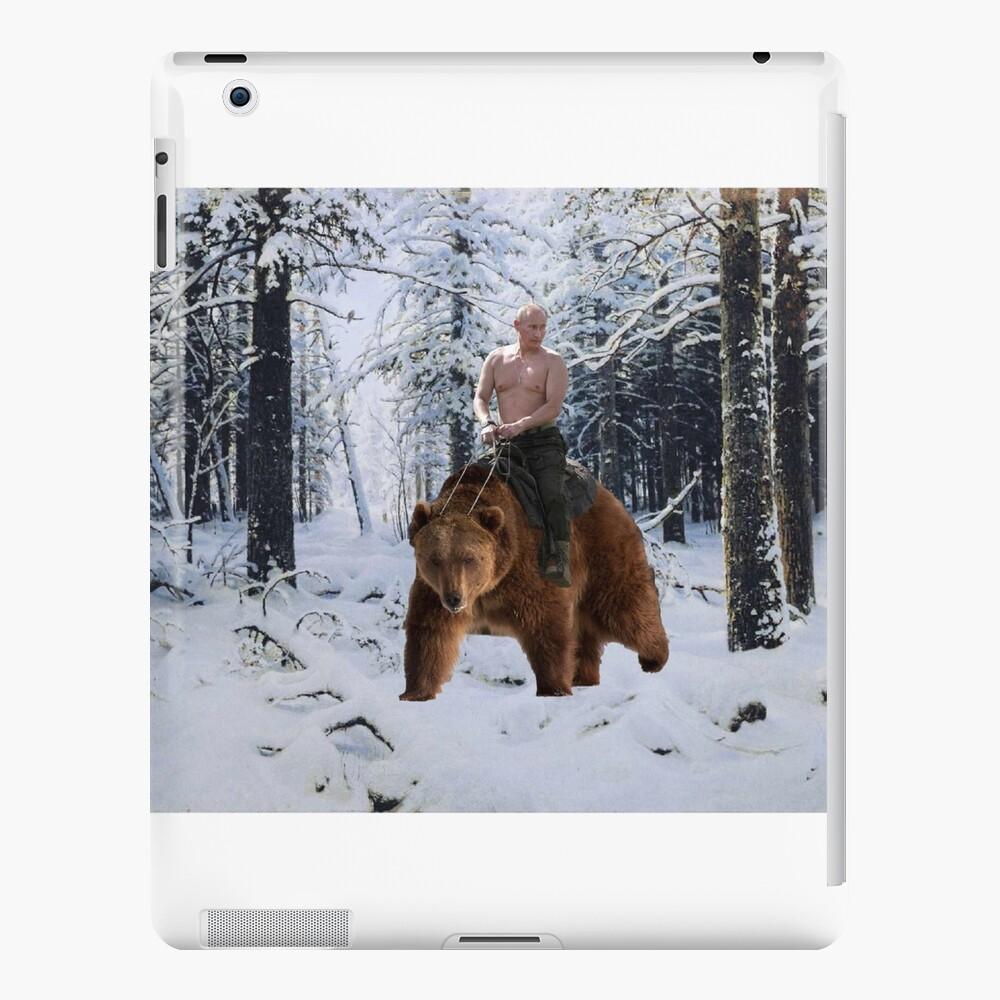 Putin en un oso Funda y vinilo para iPad