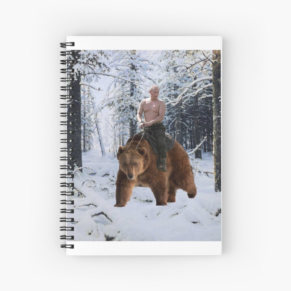 Putin en un oso Cuaderno de espiral