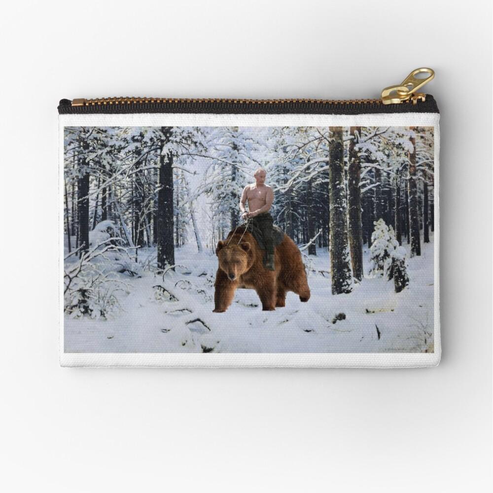 Putin en un oso Bolsos de mano