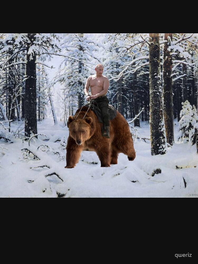 Putin en un oso de qweriz