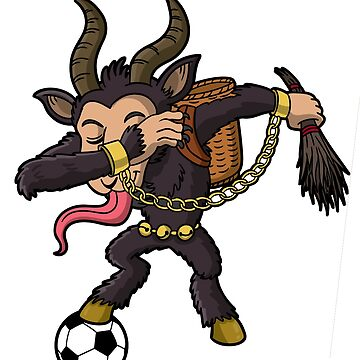 Dabbing Krampus Soccer Ugly Christmas by frittata