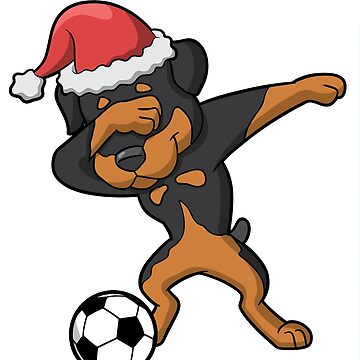 Dabbing Rottweiler Soccer Ugly Christmas by frittata