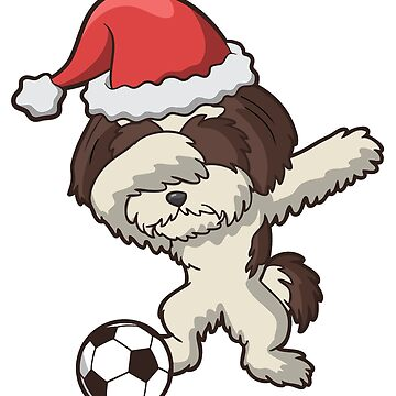 Dabbing Shih Tzu Soccer Ugly Christmas by frittata
