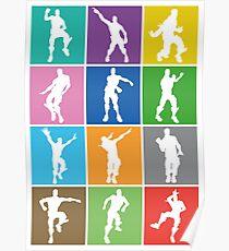 Fortnite Dances & Emotes Poster