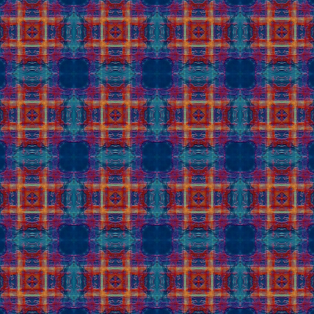Red Sky Plaid  by Hugh Fathers