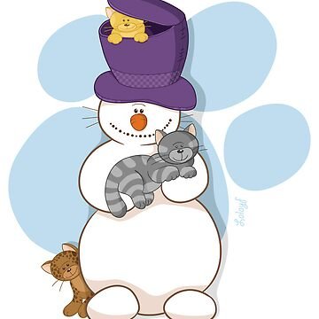 Snowman loves cats too! by Lalayf