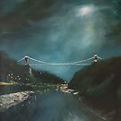 Moonlight in the gorge by Jenny Urquhart