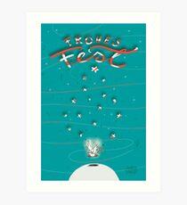 Taube - Frohes Fest Kunstdruck