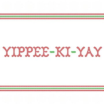 Die Hard Yippee-Ki-Yay Ugly Christmas Sweater by shaggylocks
