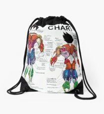 Anatomy Chart - Muscle Diagram Drawstring Bag