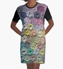 Crochet 2 Pattern Graphic T-Shirt Dress