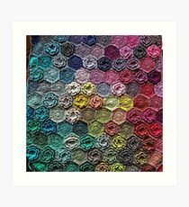 Crochet 2 Pattern Art Print