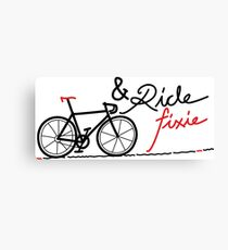 ride fixie Canvas Print