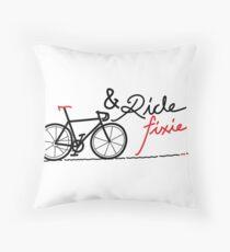 ride fixie Throw Pillow
