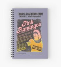 Pink Flamingos Distressed Spiral Notebook