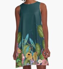 Dreaming Green A-Line Dress