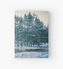 Winter at a Loch Near Kingussie (Cat Burton Photography) Hardcover Journal
