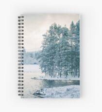 Winter at a Loch Near Kingussie (Cat Burton Photography) Spiral Notebook