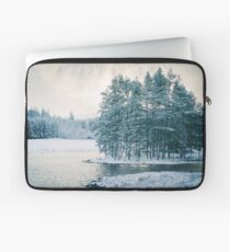Winter at a Loch Near Kingussie (Cat Burton Photography) Laptop Sleeve