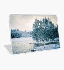Winter at a Loch Near Kingussie (Cat Burton Photography) Laptop Skin