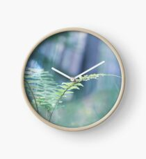 Ferns and Daydreams (Cat Burton Photography) Clock