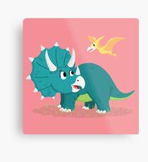 Trixie Triceratops  Metal Print