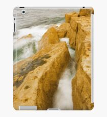 Waves crashing over Portland Bill iPad Case/Skin