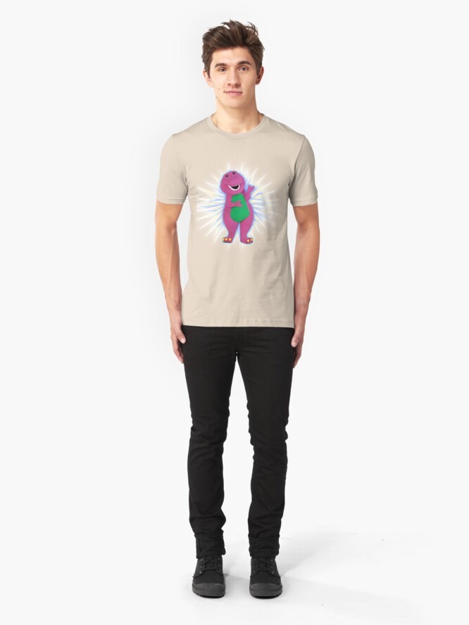 Alternate view of Barney The Dinosaur <3 Slim Fit T-Shirt