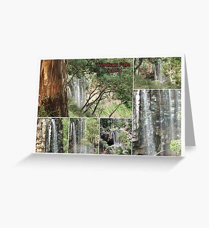 Trentham Falls..Victoria..Collage Greeting Card