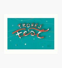 FROHES FEST - mit Sternchen Kunstdruck