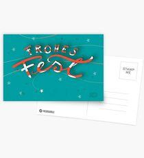 FROHES FEST - mit Sternchen Postkarten