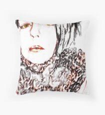 Sketchy Nancy Throw Pillow