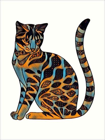 «Gato fauvista» de Hareguizer