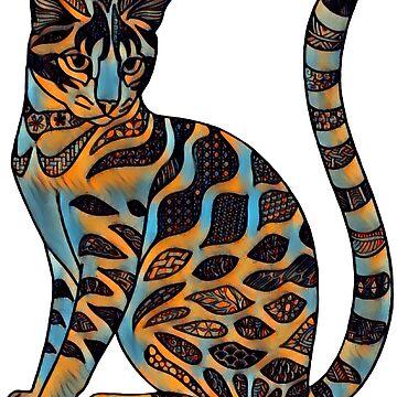 Gato fauvista de Hareguizer