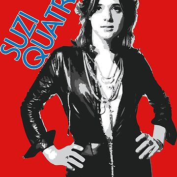 Suzi Quatro 1970s Retro 70s Vintage Crash Punk Rock by neonfuture
