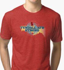 Tyndall AFB Strong Hurricane Michael Tri-blend T-Shirt